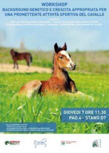Background genetico e crescita appropriata per una promettente attività sportiva del cavallo 7 novembre 11:30 PAD. 4- STAND D7)