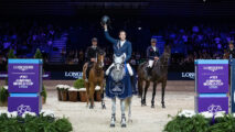 It was a back-to-back victory for World No. 2 and reigning European champion, Martin Fuchs with Clooney, when they came out on top at the third leg of the Longines FEI Jumping World Cup™ 2019/2020 Western European League at Lyon, France. (FEI/Eric Knoll)