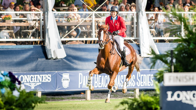 Beezie Madden (USA) riding Darry Lou part of the winning team at the Longines FEI Jumping Nations Cup™ 2020, Wellington, USA Photo Copyright © FEI/Shannon Brinkman