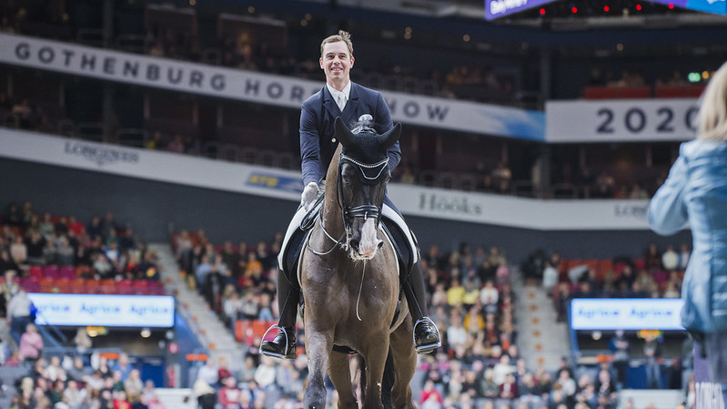 Benjamin Werndl (GER) riding Daily Mirror - second place at the FEI Dressage World Cup™ Final 2019-2020, Göteborg (SWE) © FEI /Satu Pirinen