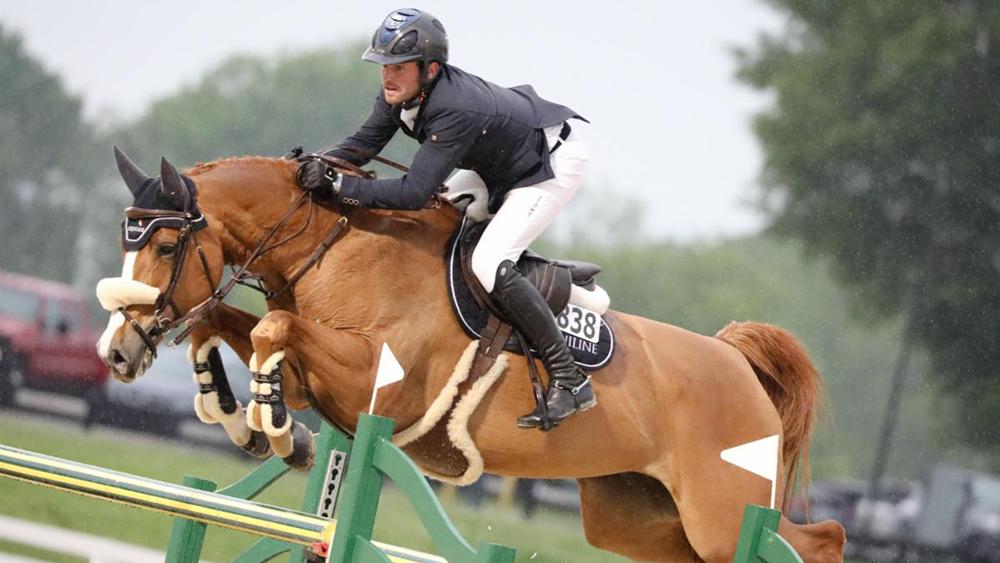 Darragh Kenny and Babalou 41, winner of the 2019$134,000 Kentucky Spring Grand Prix CSI3* © B Dukes/Phelps Sport
