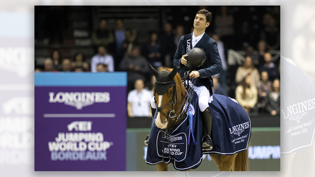 Switzerland's Steve Guerdat, produced his second win of the Longines FEI Jumping World Cup™ 2019/2020 Western European League series with Victorio Des Frotards at Bordeaux (FRA)