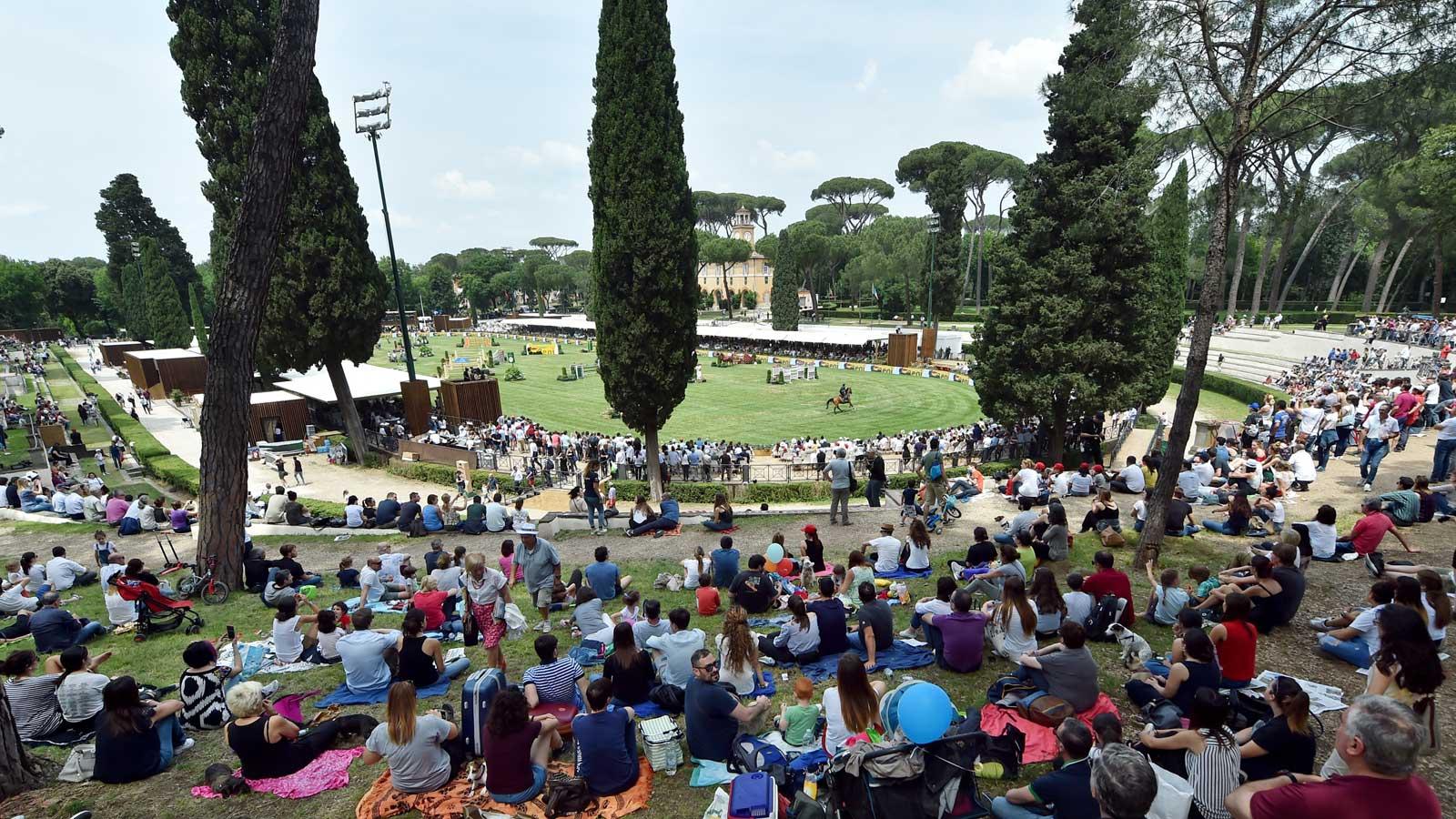 Sport Equestri: Piazza di Siena rinviato al 2021, dal 26 al 30 maggio, Villa Borghese a Roma ©Coni/Simone Ferraro
