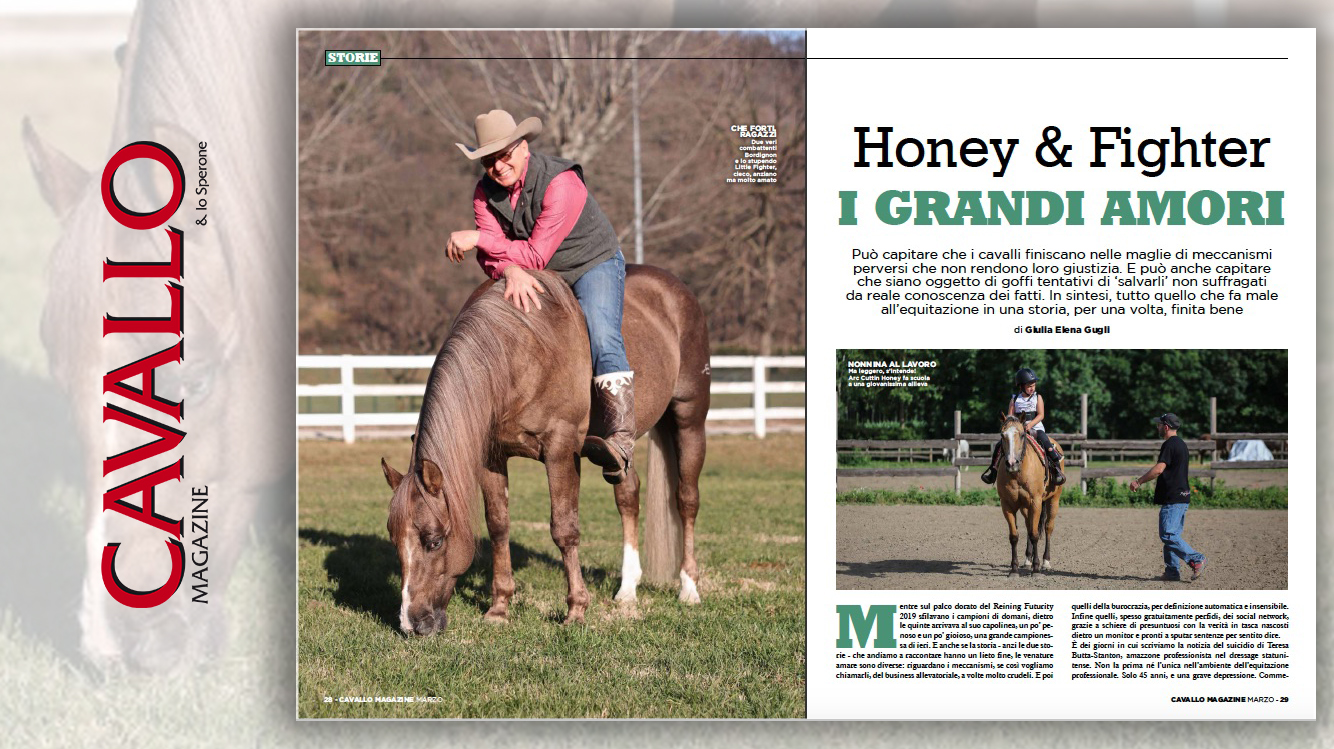Honey e Fighter, storie di cavalli unici - Cavallo Magazine di marzo 2020