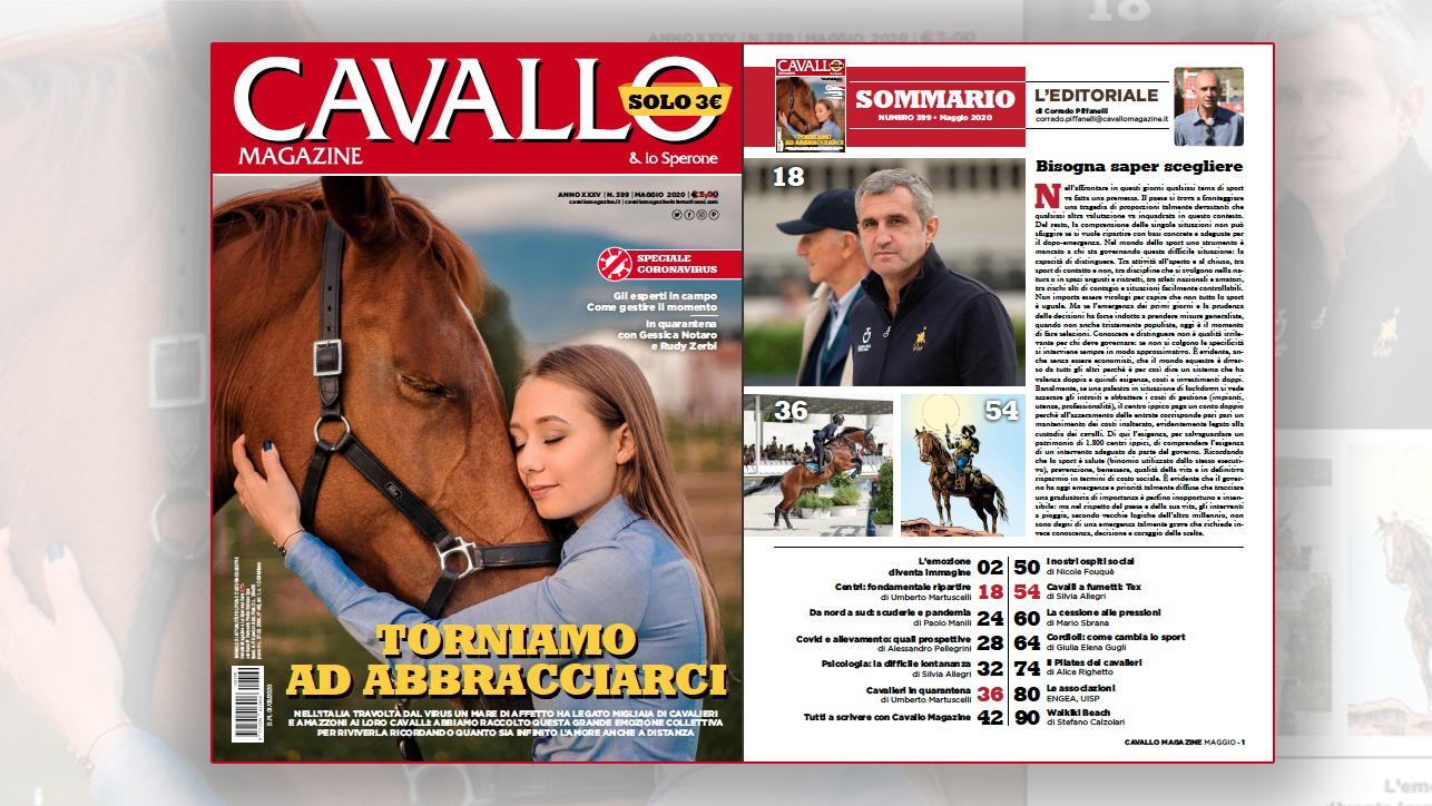 Cavallo Magazine vi presenta: torniamo ad abbracciarci - maggio 2020