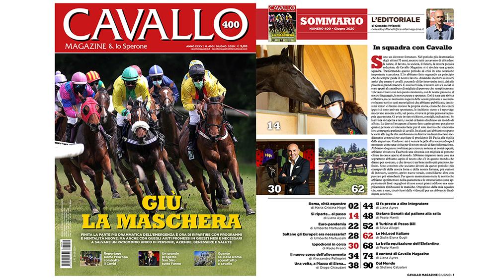 Cavallo Magazine di Giugno: giù la maschera