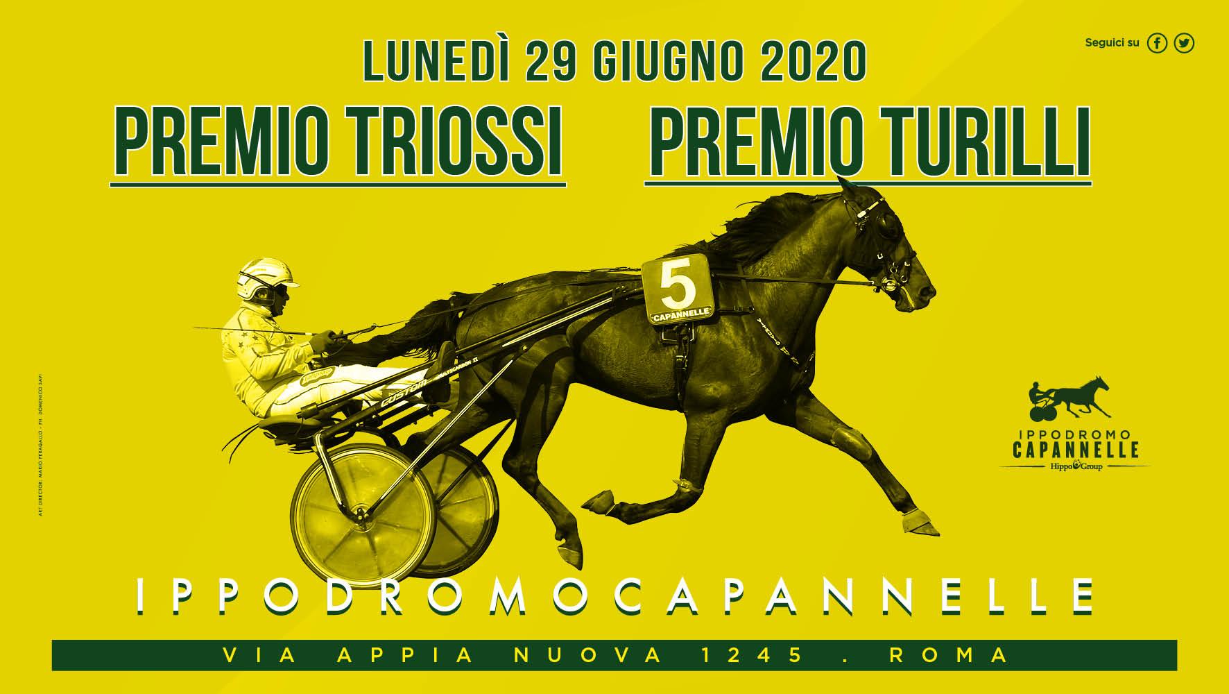 Trotto: tutto pronto a Capannelle per i Gran Premi Turilli e Triossi