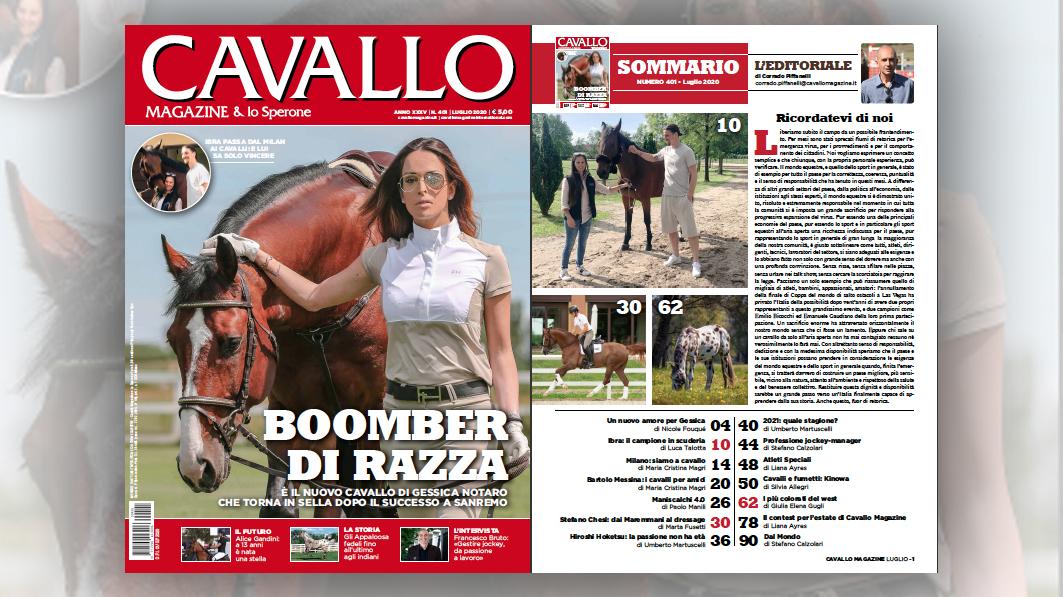 Cavallo Magazine di luglio é in edicola