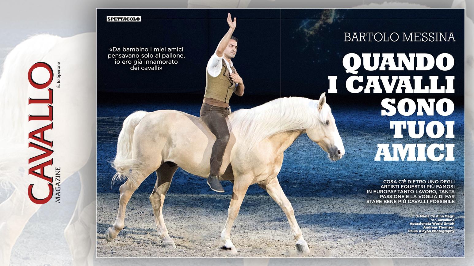 Bartolo Messina: quando i cavalli sono tuoi amici - Cavallo Magazine di luglio 2020