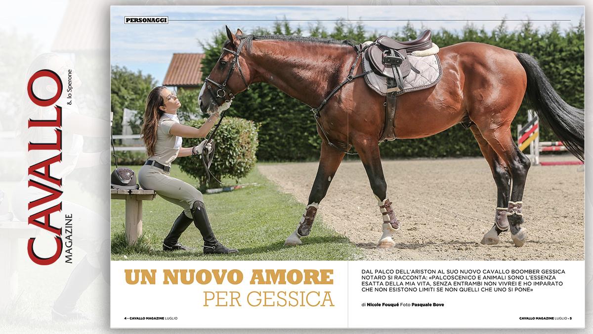 Un nuovo amore per Gessica Notaro, Cavallo Magazine di luglio 2020